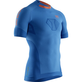 X-Bionic Invent 4.0 Run Speed Paita SH Lyhythihainen Miehet, teal blue/kurkuma orange